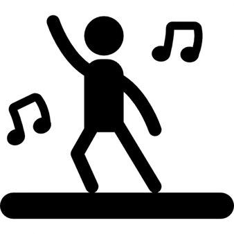 Dançarino com música