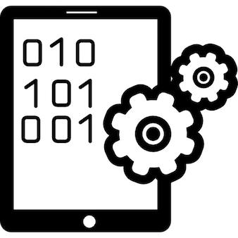 Definições de dados por tablet