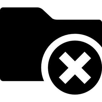 Delete interface pasta símbolo preto