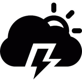 Dia tempestade elétrica