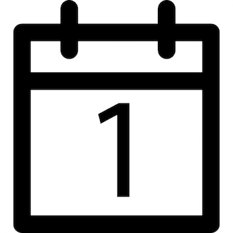 Diário esboço de calendário