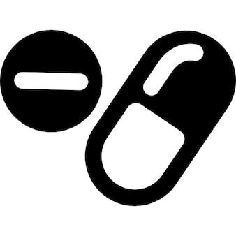 Drogas cápsulas e comprimidos