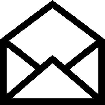 E-mail aberta símbolo de interface