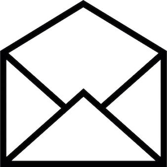E-mail símbolo envelope aberto de ios 7 de interface