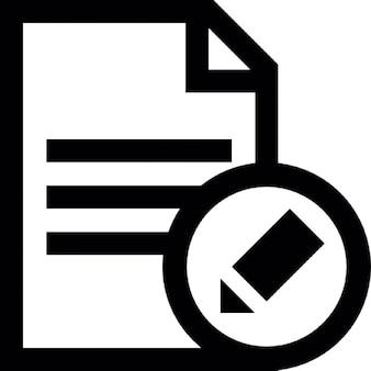 Edição de texto botão interface de documento