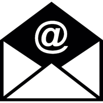Envelope e-mail aberto