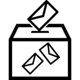 Envelopes e caixa eleitorais