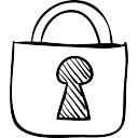 Esboço de cadeado fechado