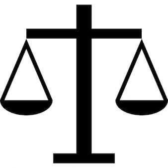 Escala balança da justiça