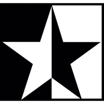 Estrela branca preta