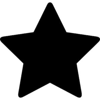 Estrela de cinco pontas em preto