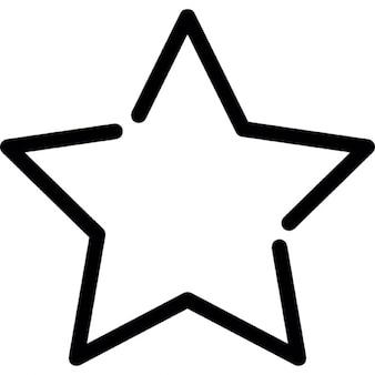 Estrela de Cinco Pontas esboço