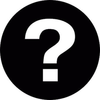Faq botão circular com ponto de interrogação dentro