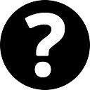 FAQ botão circular preenchida