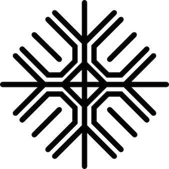 Floco de linhas em um padrão de número quatro