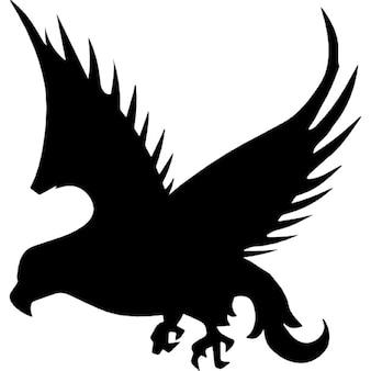 Forma falcão pássaro