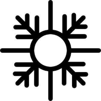 Forma padrão de floco de neve