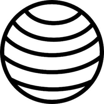 Globo terrestre com padrão de linhas horizontais