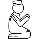 Homem muçulmano que Praying