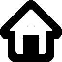 Início web símbolo interface de botão