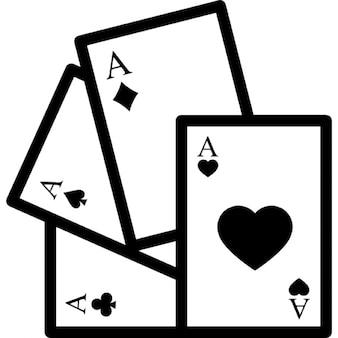 Jogando cartas com corações