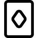 Jogando esboço cartão com rhomb diamante