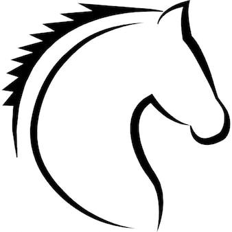 Linhas cabeça de cavalo