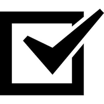 Lista de verificação caixa marcada