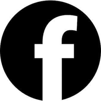 Logotipo facebook em forma circular