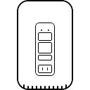 Scanner de impressão digital com senha no celular