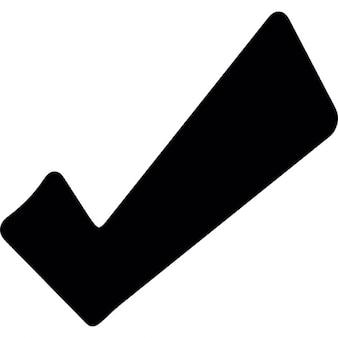 Marca de verificação e preto corajosos