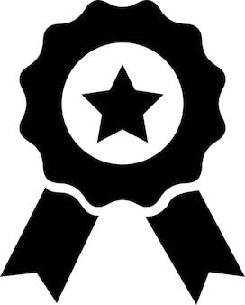 Medalha com estrela e fita