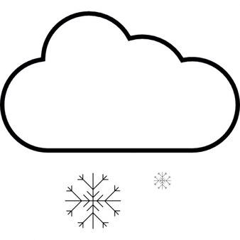 Nevando, iOS símbolo 7 de interface
