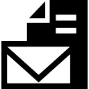 Nova mensagem de e-mail com o símbolo de arquivo