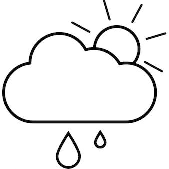 Nublado com garoa, iOS símbolo 7 de interface
