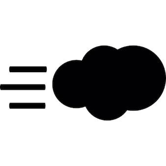 Nuvem com vento símbolo de tempo