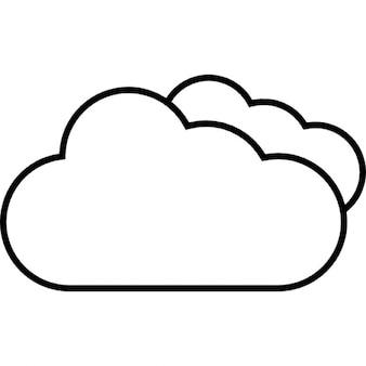 Nuvens pesadas, ios 7 símbolo