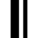Ousada linha de barra dupla