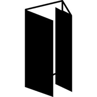 Papel tríptico produto impresso dobrado