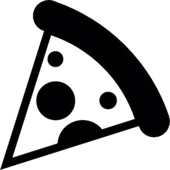 Pedaço de pizza de forma triangular