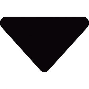 Pequena seta para baixo triangular