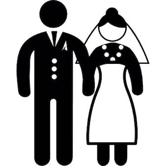 Pessoa casal casamento