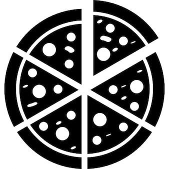 Pizza corte italiano em fatias