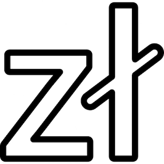 Poland símbolo de moeda zloty