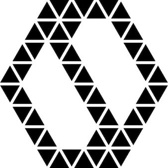 Poligonal reta símbolo yin yang