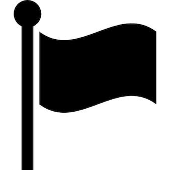 Pólo de bandeira com a bandeira preta