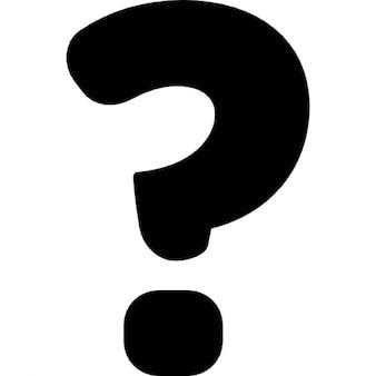 Ponto de interrogação símbolo preto