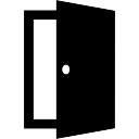 Porta de saída aberta