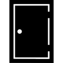 Porta retangular preenchido Closed