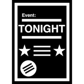 Poster do evento com detalhes brancos